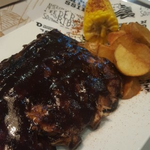 ribs con glaseado de cafe