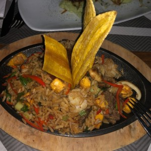 Arroz chaufa mixto