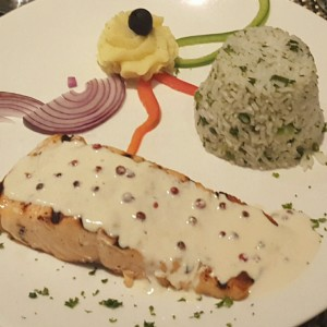 Grilled Salmon Herb Rice