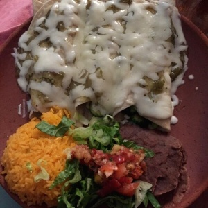 Enchilada de vegetales mixtos