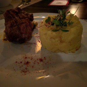 Tenderloin with mash potato