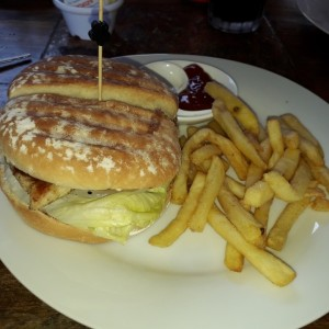 hamburguesa filete de pollo
