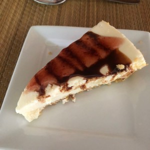 cheese cake de frambuesas y chocolate