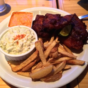 Cajun Fish and Chips w/Cole Slaw