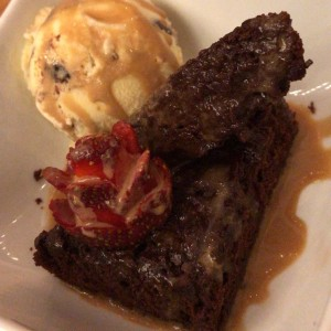 brownie com helado
