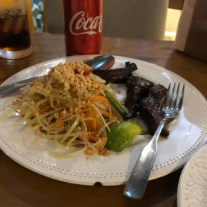 Papaya Salad + Sweet Charred Pork