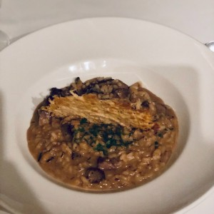 Risotto de hongos shitake & steak