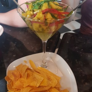 ceviche mango y aguacate