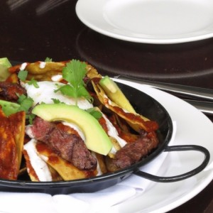 Chilaquiles con short ribs