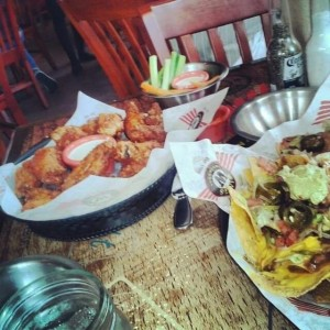 wings and nachos