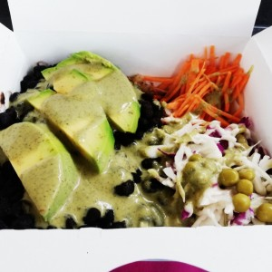 Black beans & Avocado Hot Box