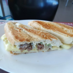 Phily cheese steak sandwhich