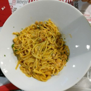 linguine de salmon