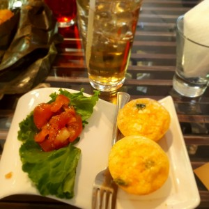 Breakfast de Quiche y soda Italiana  Mango