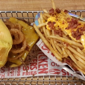 BBQ Bacon&Cheese and fries with bacon and cheese