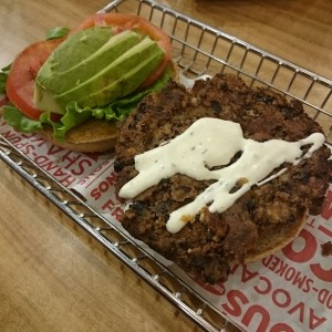 Avocado black bean Burger