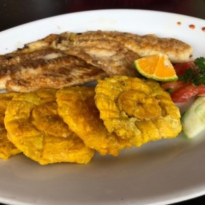 filet de corvina con tostones