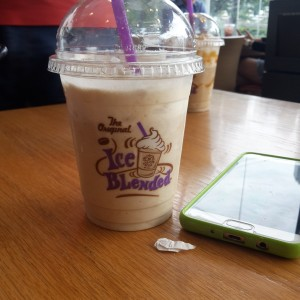 hazelnut ice blended coffee