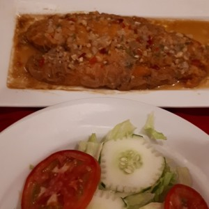 filete de pescado a la ajillo