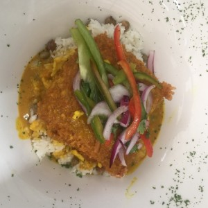 Filete de pescado con coco y curry... me encanto
