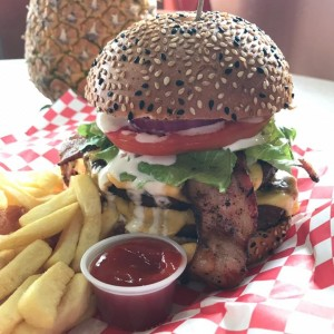 FarmerBurger doble con Bacon