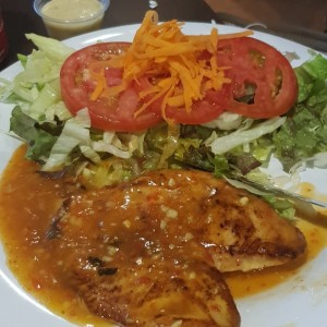 filete pollo al ajillo