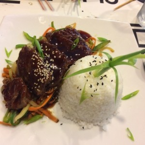 Filete de res teriyaki
