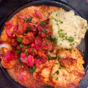 sizziling chicken & shrimps