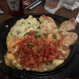 Sizzling Chicken n Shrimp