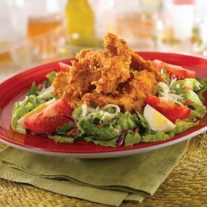 chiken fried cajun salad