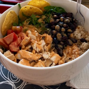 Chipotle chicken rice bowl