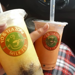 Passion Fruit Tea y Thai Tea Bubble Tes