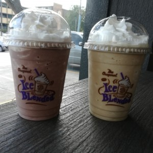 ice blended vainilla y pure chocolat