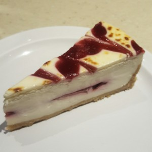 Cheesecake de Raspberry y Chocolate Blanco