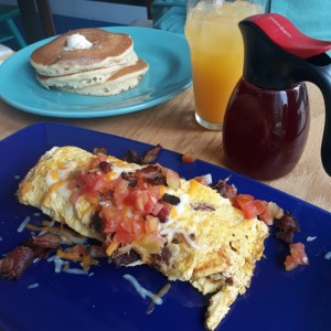 Omelet queso y bacon
