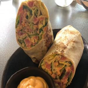 Spicy tuna avocado wrap