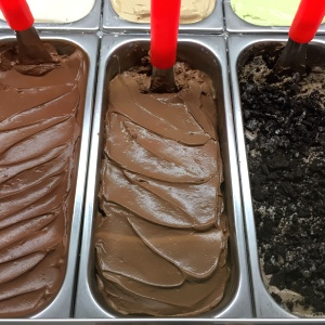 Gelatos de chocolate y oreo