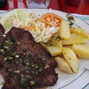 churrasco al ajillo