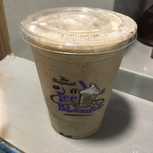 Ice blended cookies and cream