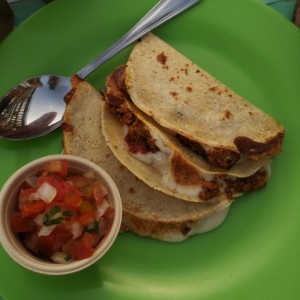 Quesadillas de chorizo