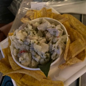 ceviche de corvina chimi churri