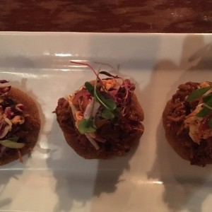 Tortillas de pulled pork