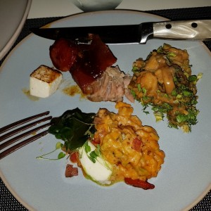 Big treats - Risotto Brutto con Risotto Capressa y Cochinillo