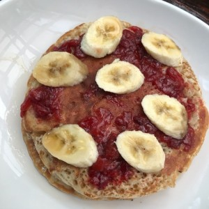 Straberry and Banana Pancake