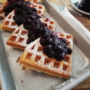 Waffles con blueberry