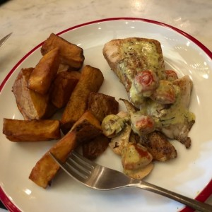 corvina y papas