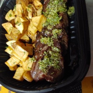 New York al Grill papas salteada