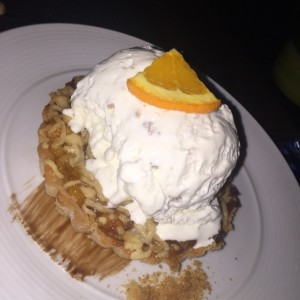 apple pie con helado