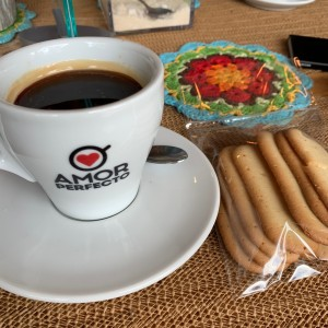Cafe Americano + Butter cookies