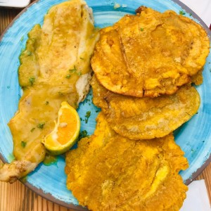 Filete de Corvina con curry y Coco